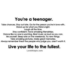 Quotes Of Teenage Life