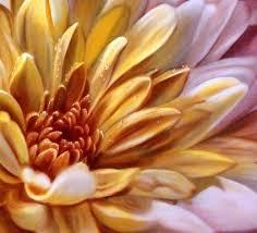 large flower painting a modern chrysanthemum flower painting a very close up view large flower painting