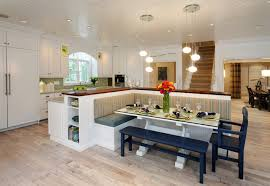 Contemporary kitchen idea in Indianapolis with wood countertops,  raised-panel cabinets, white cabinets
