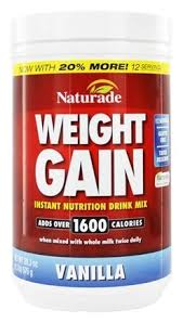 naturade weight gain instant nutrition drink mix vanilla 16 93 oz at luckyvitamin
