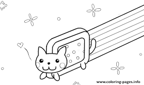 Small Picture Nyan Cat Template By Kixfe Coloring Pages Printable