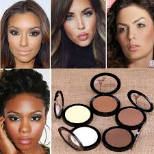 new fashion foundation natural concealer brighten shimmer dark skin face powder contour shimmer bronzer highlighter makeup in powder from beauty health on