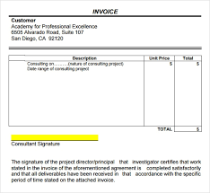 Download Consultant Invoice Template Word Doc Background
