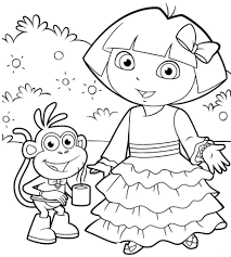 Small Picture Dora Printable Coloring Pages And The Explorer glumme