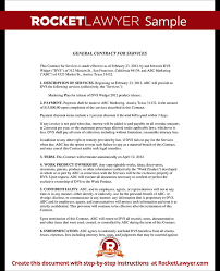 Two Party Contract Template Inspiration General Contract For Services Form Template With Sample