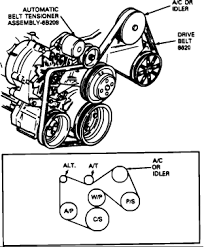 1992 ford econoline i need to have a serpentine belt diagram graphic