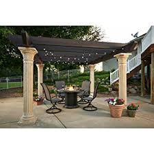 Amazoncom  Outdoor GreatRoom Tuscany II Pergola With Wood Beams Outdoor Great Room