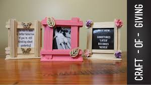 Easy Craft Stick Photo Frames   Craft of Giving - YouTube