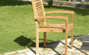 panama teak stacking garden chairs for