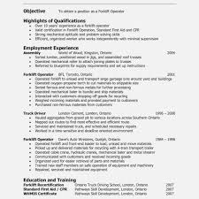 Forklift Experience On Resume Radame Brianstern Co