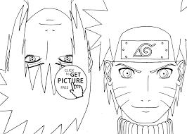Naruto With Sasuke Anime Coloring Pages For Kids Printable Free