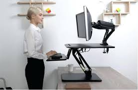 standing office table. Amazing Standing Office Desk Workstation Stand Up Table Raised Within Attractive