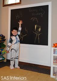 diy creating a framed chalkboard wall