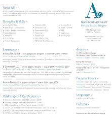 Sample Resume Format Fresh G Nice Resume In One Page Sample Free