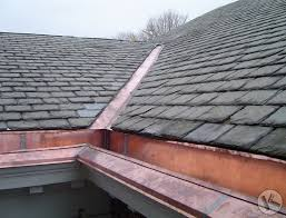 copper integral gutter on slate roof slate roof cost o50