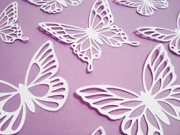 Butterfly Cutouts Template Paper Cut Butterflies Paper Art Paper Butterflies Paper Cutting