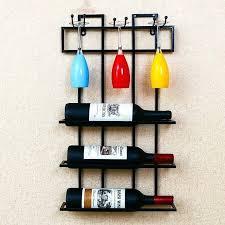 wall mounted wine rack canada creative hangers hang racks red glass frame upside down the hanging hanging wine rack