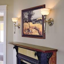 mantel lighting. larger scale carlton one light torch sconces fireplace mantel lighting e