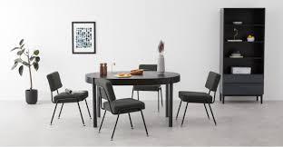2 X Knox Esszimmerstühle Rußgrau Madecom