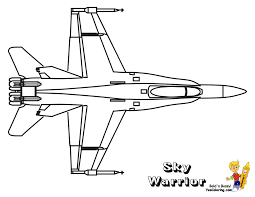 Printable Fighter Jet Coloring Pages