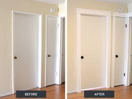 diy craftsman door trim tutorial on how to update old door frames on your own