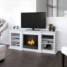 media console gel fuel fireplace in black g1200 b the home depot