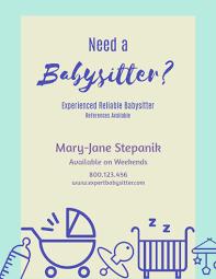 Babysitting Flyer Template Babysitter Flyer Template Visme