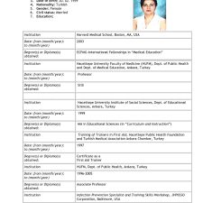 Sample Job Application Resume Example Of Resume For Applying Job Examples Resumes Application Cv 54