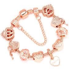 Boosbiy <b>Luxury</b> Brand Women Bracelet Unique Rose Gold <b>Crystal</b> ...
