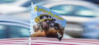 monster jam car flags