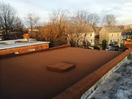 Flat roofing finished product.