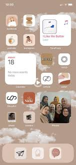 Iphone home screen layout