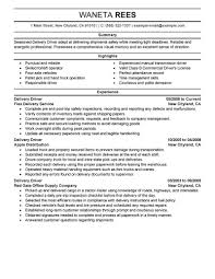 Delivery Driver Resume Sample Driver Resumes Livecareer