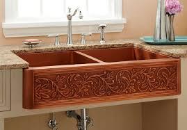 farmhouse double kitchen copper sink