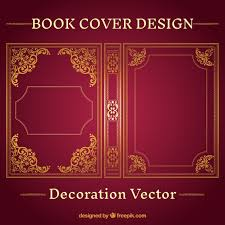 free book cover design ornamental book cover design vector free