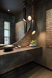 contemporary black bathroom light fixtures add an exotic touch