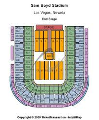 Sam Boyd Stadium Tickets And Sam Boyd Stadium Seating Chart