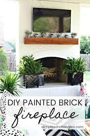 painted brick tutorial outdoor fireplace painting exterior brick