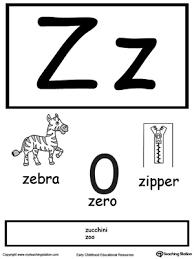 Alphabet Flashcards For Preschooler Letter Z