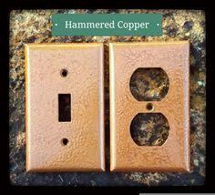 copper outlet covers. Perfect Outlet Hammered Copper Wall Plates SwitchOutlet Covers  Antique Switch  Metallic Decor Rustic Outlet THE BARKINGu2026  Sheu0027s Crafty In Covers I