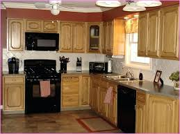Kitchen Colors With Wood Cabinets Beautiful Color Ideas Oak  And Black Appliances For72