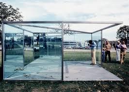 dan graham pavilion sculpture for argonne 1981 two way mirror glass steel frame installation view argonne national laboratory argonne il