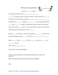 Worksheets. Force And Motion Worksheets 5th Grade. Opossumsoft ...