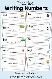 Kindergarten Writing Pages Free Number Writing Pages Instant Download Homeschool