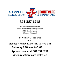 Group Health Doctors Note Garrett Medical Group Urgent And Primary Care