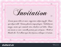 Invitation Template Detailed Cordial Design Easy Stock Vector
