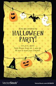 Halloween Invitations Cards Halloween Party Invitation Card Long