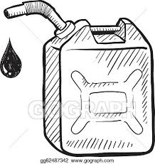gas can clipart. eps illustration - doodle style gasoline can in vector format suitable for web, print, or advertising use. clipart gg62487342 gas a