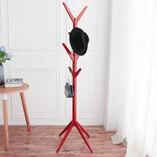 Coat Bag Rack Hat Coat Rack Bedroom Clothes Stand Coat Hanger Stand Wooden 48