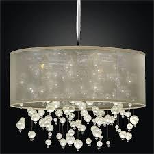 drum shade chandelier champagne 640nd18sp t 7